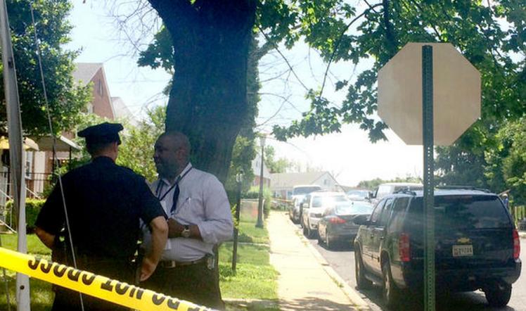 Baltimore police investigate a double homicide.