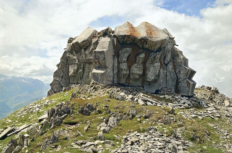 Neutral Switzerland has military bunkers disguised as rocks, houses and myriad other installations in camouflage.